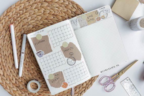 bullet journal fitness trackers